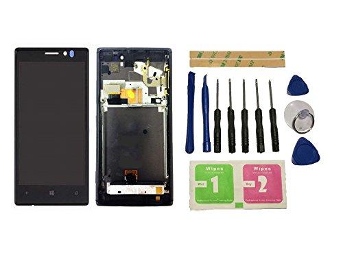Flügel per Nokia Lumia 925 Schermo Display LCD Display Nero Touch Screen Digitizer Sostituzione Assemblea Frame di ricambio e Strumenti Gratuiti