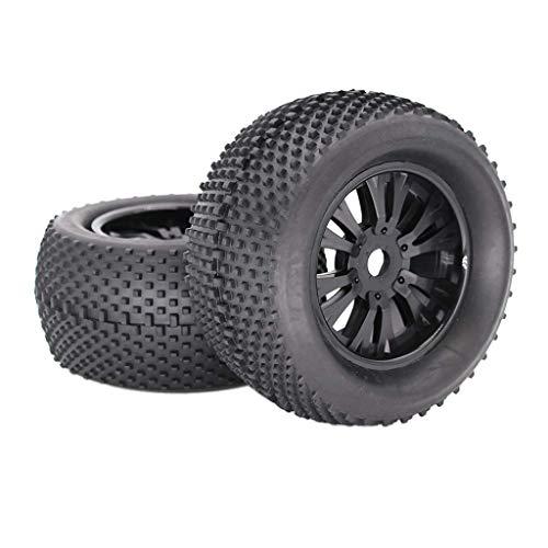 Neumáticos de goma de 140 mm con ruedas de metal hexagonales de 17 mm para 1/8 RC Car Monster Truck Buggy Truggy, 2 piezas