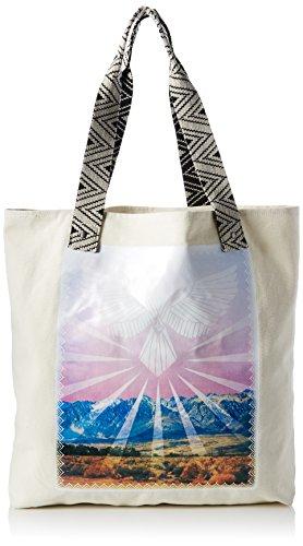 Volcom - Shore Thang Tote Handtasche Damen, cartera Mujer, Mehrfarbig (Black), 20x48x45 cm (B x H T)