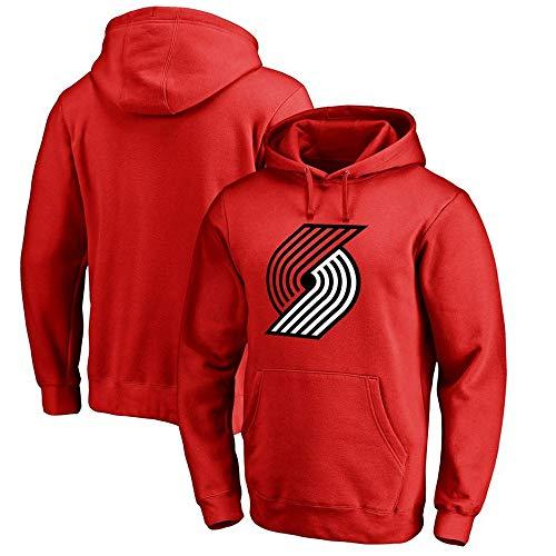 Heren Sweatshirt Basketbal Fans Jersey Portland Trail Blazers Damian Lillard Hoodie met Trekkoord Lange Mouwen Casual Comfortabele Pullover S-XXXL Rood