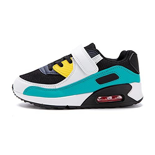 Zapatillas Niño Unisex Sneakers Niña Zapatos Deporte Running CalzadoNiños Casual Transpirables Antideslizante Verde Talla 31 EU