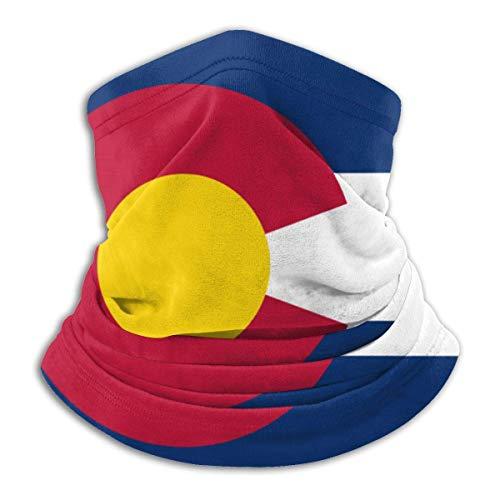 Lawenp Colorado La Bandera Nacional Máscara A Prueba De Viento Bufanda De Microfibra Cuello Calor Multi-Estilo Cuello BalaclavaAheaddressf Negro