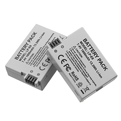 Replacement Canon LP-E8 Battery Pack for Canon EOS Rebel T3i, T2i,...