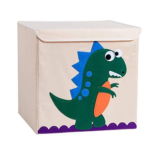 N/A/ 1 caja de almacenamiento con diseño de animales de dibujos animados con tapa abatible, organizador de ropa sucia.