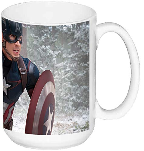 MasTazas Capitan America Captain America Chris Evans C Taza Grande Ceramica 15 oz ≈ 443 ml