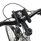 NC-17 3D One-Click Mount - Soporte para Manillar, Smartphone y teléfono móvil para Bicicleta, Moto, Soporte para teléfono móvil, para iPhone, Galaxy, Color Negro, tamaño