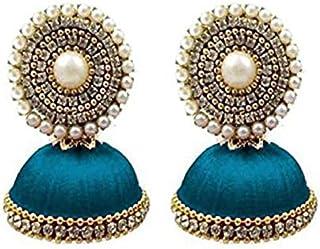 f43da3603 Ailsie Stylish Jhumka Earrings For Women Fashion Treditional Silk Thread  Earring Round Jumki Jhumkas Earring With