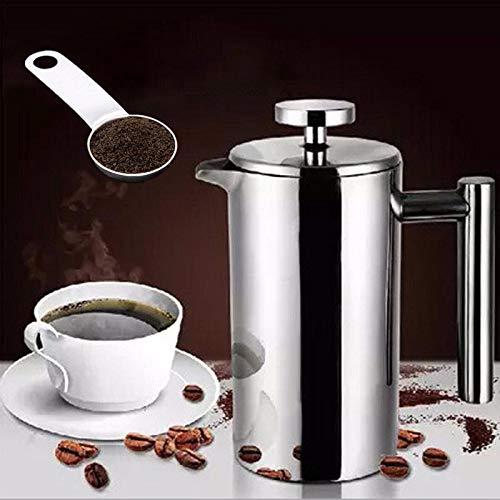 Doppel-schicht Isolierung Teekanne Mit Filter Edelstahl Kaffee Maker 350ml Vakuum Isolierte Doppel Wand Kaffee Café Teekanne