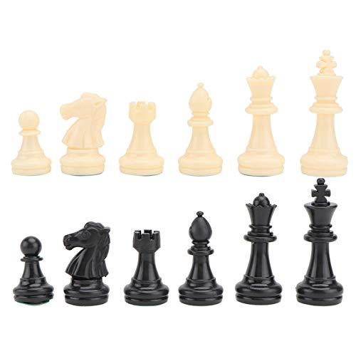 TOYANDONA 32 st schackpjäser endast standard turnering Staunton plast magnetiska schackspel tassar statyett delar för schackbrädebyte av saknade delar 64 mm