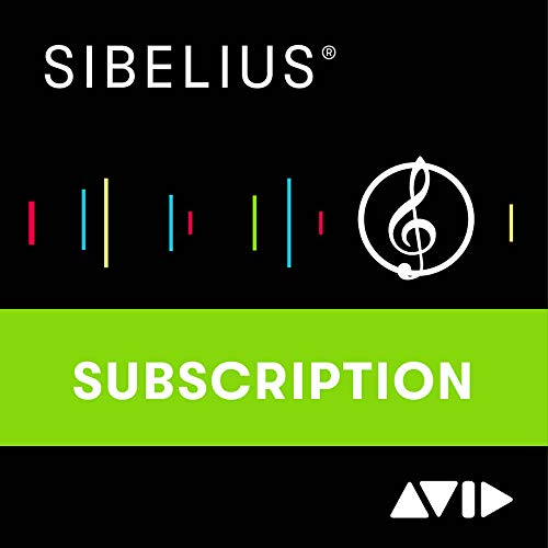 Sibelius Ultimate Music Notation Software Annual Subscription – Professional Music Notation Software (Download Card)