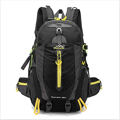 HS-LAMP 35L Lightweight Foldable Backpack Packable Water Resistant Daypack for Outdoor Walking Camping Traveling Cycling Holiday Unisex (Color : Black)