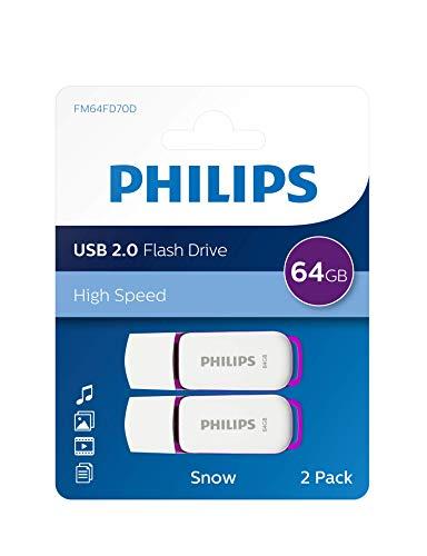 Unità flash USB Philips Snow Edition 64 GB, USB 2.0, confezione da 2