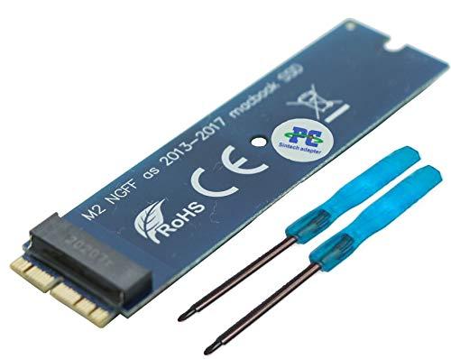 Sintech M.2 nVME - Kit de actualización de tarjetas adaptadoras SSD compatible con MacBook Air (año 2013-2017) y MacBook Pro (finales de 2013-2015, iMac