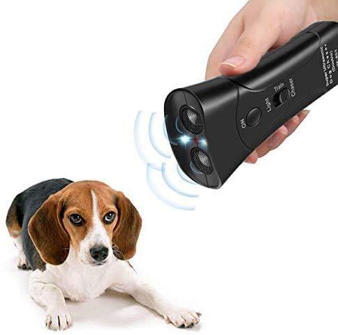 Zadyx Anti Barking Handheld 3 in 1 Pet LED Ultrasonic Dog Trainer Device - Electronic Dog Deterrent/Training Tool/Stop Barking