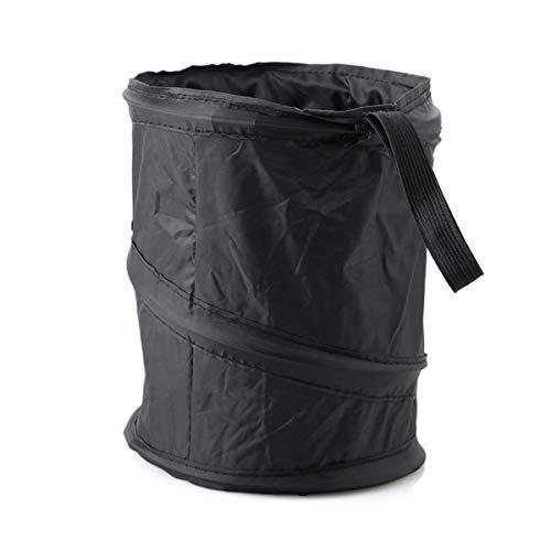 BSTHP Car Trash Opvouwbare Opknoping Vuilnisbak Rubbish Opbergtas voor Reizen Camping Opslag en Collectie (Zwart)