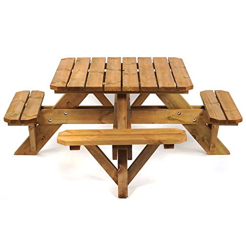 BrackenStyle Outdoor Wooden Premium Quality Eight Seater Garden Patio Picnic Table