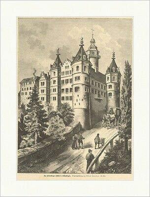 Kunstdruck Das Henneberger Schloß, Schleusingen Deutsches Reich Schröder Holzstich E 15290