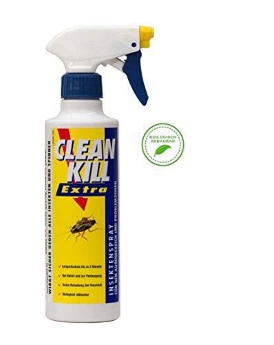 Clean Kill Extra Insektenspray | Sofort- und Langzeitwirkung über 2 Monate gegen alle Insekten | Biologisch abbaubar | Geruchlos
