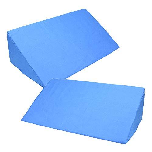 ビーズン 三角マット クッション 介助 介護用 サポート 足 腰 腕 支える カバー取外し 洗える (2個セット, ブルー)