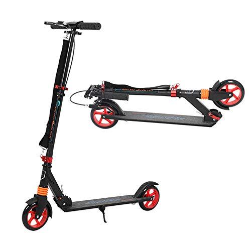 MFZTQ City Scooter,Big Wheel City-Roller,3 HöHenverstellbar Erwachsener Tretroller Mit Scheibenbremsen Und Klappgriff Handbremse Geeignet FüR HöHe 130~185 cm (80 Kg)