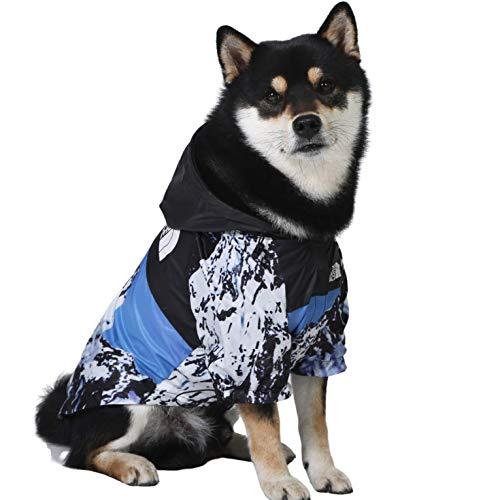 ChoChoCho Dog Raincoat Waterproof Windbreaker Fashion Pet Clothing Streetwear Outfit for Dog Cat Puppy Small Medium Large (4XL, Snow Mountain)