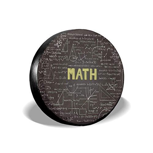 Hokdny Cubierta del Neumático De Repuesto Cubierta De La Rueda del Neumático Cubiertas del Tráiler De Matemáticas Educativas 14 15 16 17 Pulgadas