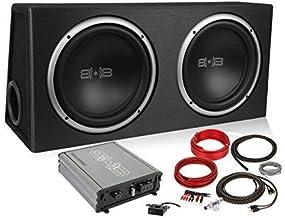 Belva 1200 watt Complete Subwoofer Package Includes Two (2) 12-inch Subwoofers in Ported Box, Monoblock Amplifier, Amp Wir...