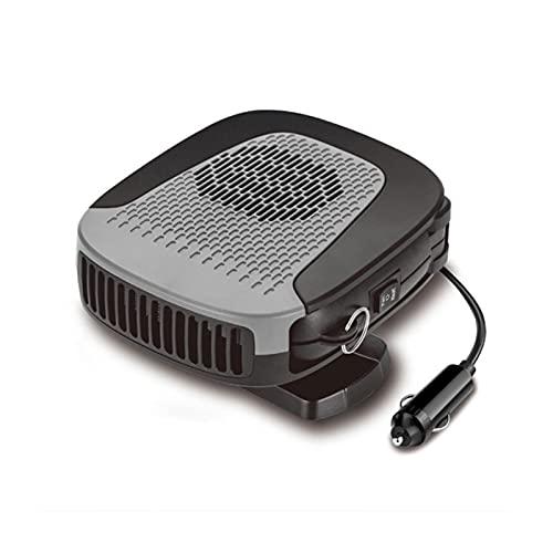 YUKE 2 en 1 Calentador de automóviles portátil Windsheild Defroster Defraster Afogger Demister 12V 150W Enchufe Cigarette Encendedor Accesorios para automóviles (Color : Black)