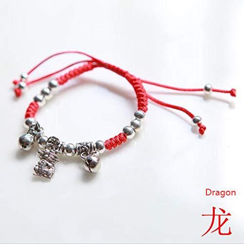Leayao Glasperlen für Damen und Herren, Ethnischer Stil, Retro-Stil, Perlenbesatz
