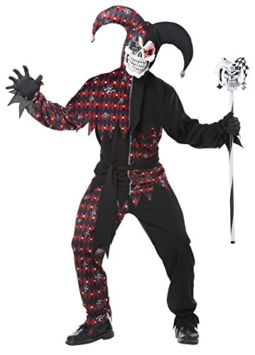 California Costumes Men's Sinister Jester Mardi Gras Carnival Costumes