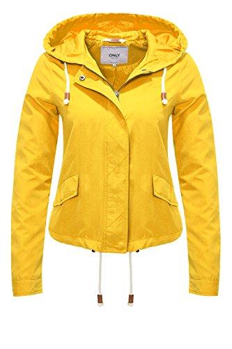 ONLY Damen onlSKYLAR Parka Jacket CC OTW Jacke, Gelb (Yolk Yellow), 42 (Herstellergröße: XL)