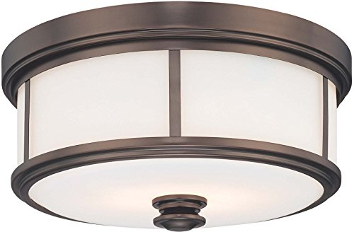 Minka Lavery Flush Mount Ceiling Light 6369-281 Low Profile Fixture, 5-Light 300 Watts, Harvard Court Bronze