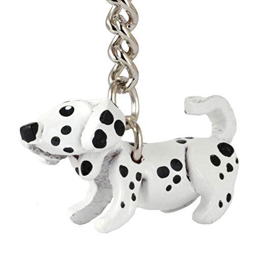 Monkimau Schlüsselanhänger Dalmatiner Hunde Figur aus Leder