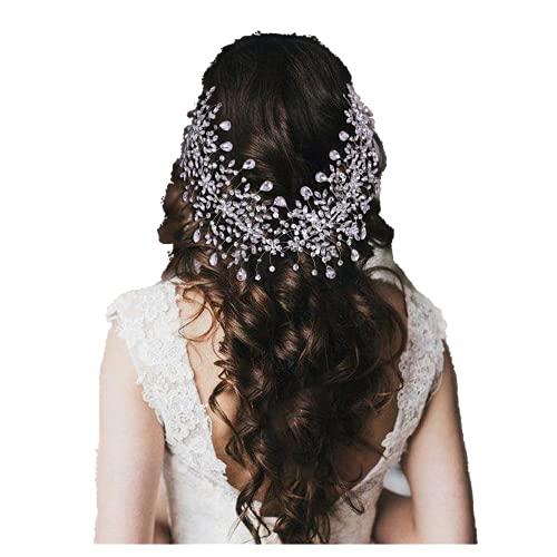 TOPQUEEN Braut Haarkamm Gold Strass Perle Hochzeit Haarschmuck für die Braut Brautjungfer Kopfschmuck Hochzeit