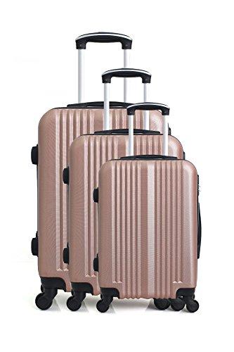 Hero Lipari kofferset, 76 cm, 194 liter, roze (roze)