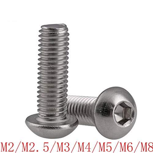 Gaoominy M3 x 10mm 304 Edelstahl Phillips Flachkopfschrauben Schraube 60 Stuecke