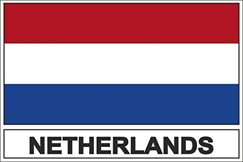 Akachafactory Sticker Aufkleber Flaggen Flagge Fahne NL niederlande