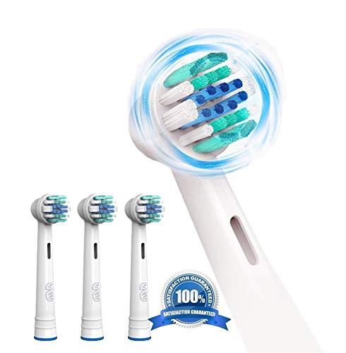 FLM Vitality Precision Clean EB17B - Cabezal de recambio para cepillo de dientes eléctrico compatibles con Braun Oral B, 4 unidades