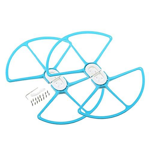 Non-brand La Hélice de Parachoques de Plástico Protege El Guardia Anticolisión para dji Phantom 1/2/3 - Azul