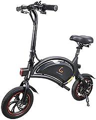 Makibes Kugoo B1 Bicicleta Eléctrica Plegable E-Bike De hasta 25 Km/H con Motor De 250 W, Soporte De Aplicaciones, Rueda De 12 Pulgadas, Bicicleta Eléctrica para Adultos Y Viajeros - Negro