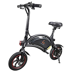 Electric Bikes Kugoo B1 Electric Bike, Foldable Bike with 250W Brushless Motor, App Support, 12 Inch Wheel Max Speed 25 km/h E-Bike for…