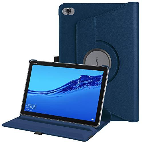 Fintie Hülle für MediaPad M5 Lite 10 - 360 Grad Rotierend Stand Schutzhülle Cover mit Auto Schlaf/Wach Funktion für Huawei MediaPad M5 Lite 10 10.1 Zoll 2018 Modell Tablet PC, (Marineblau)