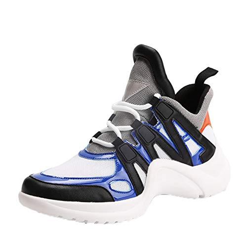 Zapatos Deportivos para Mujer, Antideslizantes, de Colores Mezclados, cómodos, Informales, con Plataforma, Antideslizantes, con Cordones, Zapatillas Informales de Moda