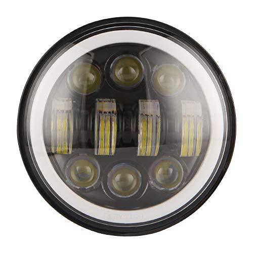 Dasing Nuevo Faro de Motocicleta de ProyeccióN LED Redondo de 80 W 5,75 Pulgadas MáS Brillante Negro
