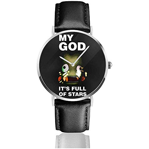 Unisex Kerbal Space Program Odyssey Uhren Quarzlederuhr mit schwarzem Lederband