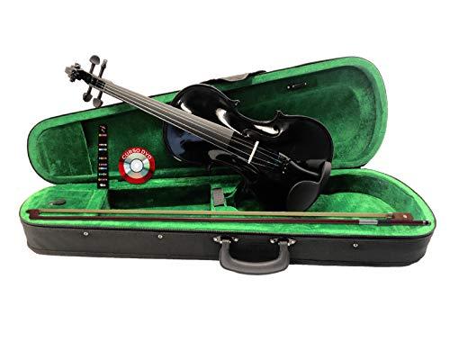 Aviland Violin de 4/4 de Madera Color Negro con Estuche