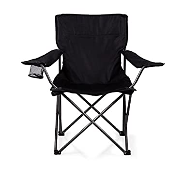 ONIVA - a Picnic Time brand PTZ Portable Folding Camp Chair, Black