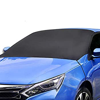 ALTITACO Car Windshield Snow Cover Frost Guard Protector Magnetic Windshield Snow Frost Ice Cover Sunshade Snow Covers with Elastic Hooks Fits Most Car SUV Truck Van or Automobile with 83 x49.2