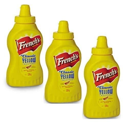 CMC French S Classic gelber Senf, 3 Packungen amerikanischer Senf (3 x 226 Gramm)