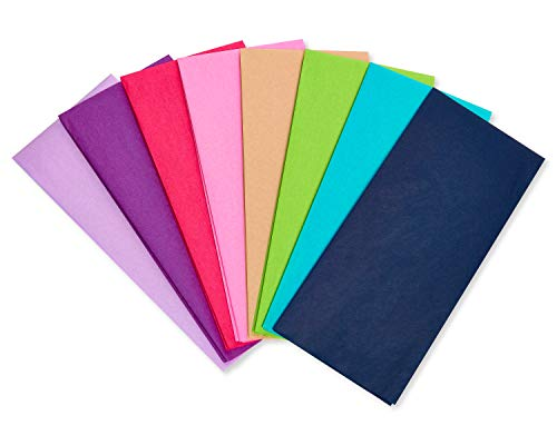 American Greetings Bulk Tissue Paper, Jewel Tones (40 Sheets)
